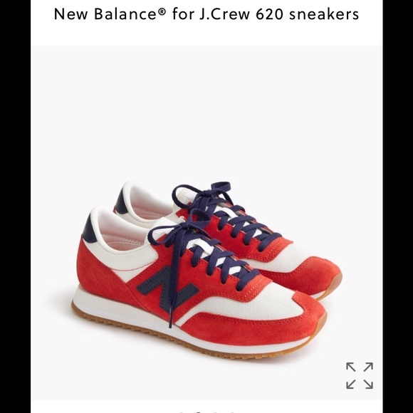 New Balance for JCrew red and blue 620 sneakers 835be6e0b